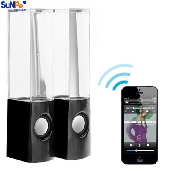 Wireless water dancing speaker bluetooth with various colorful LED light promotional speaker for christmas gift
