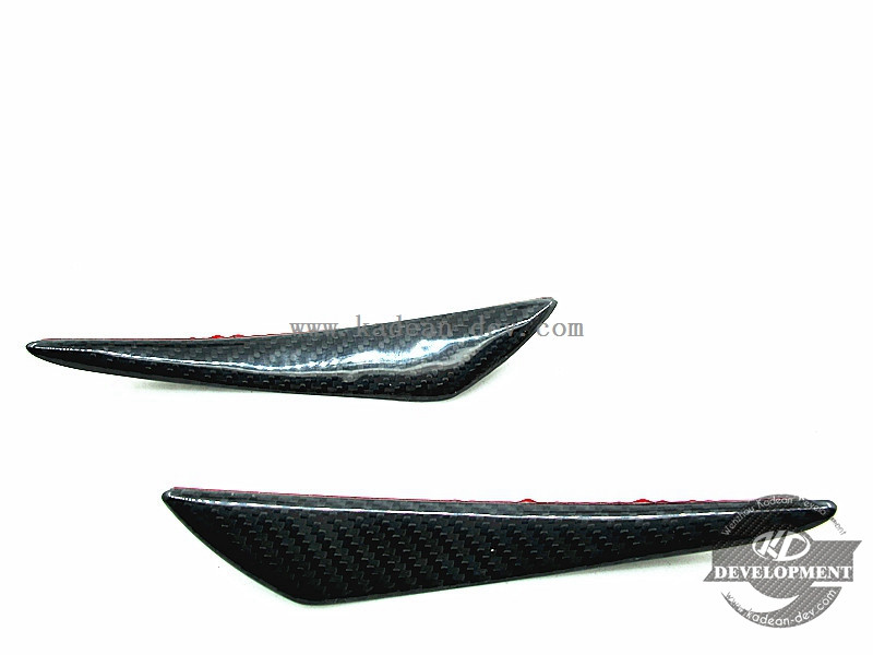 UNIVERSAL RZP STYLE FRONT BUMPER CANARD BIG 2PCS (ADHENSIVE) DRY CARBON GLOSS