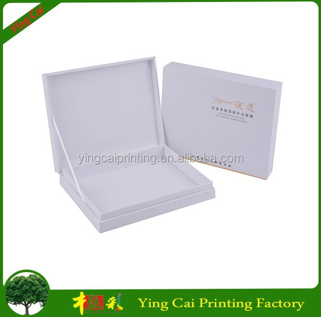 custom foil stamping white cardboard box for facial mask XF056