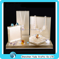 Custom design plexi ring displays earring jewelry rack acrylic necklace stands cube white