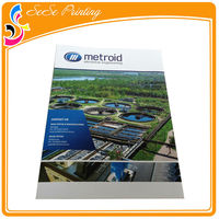 Saddle stitching binding full color offset printing catalogue / brochure