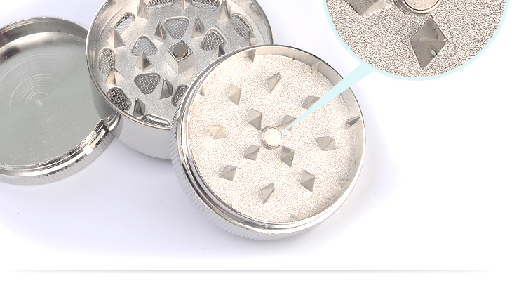 JL-065J Yiwu JinLin 2017 New Zinc Manual Metal Dry Herb Grinder Smoking