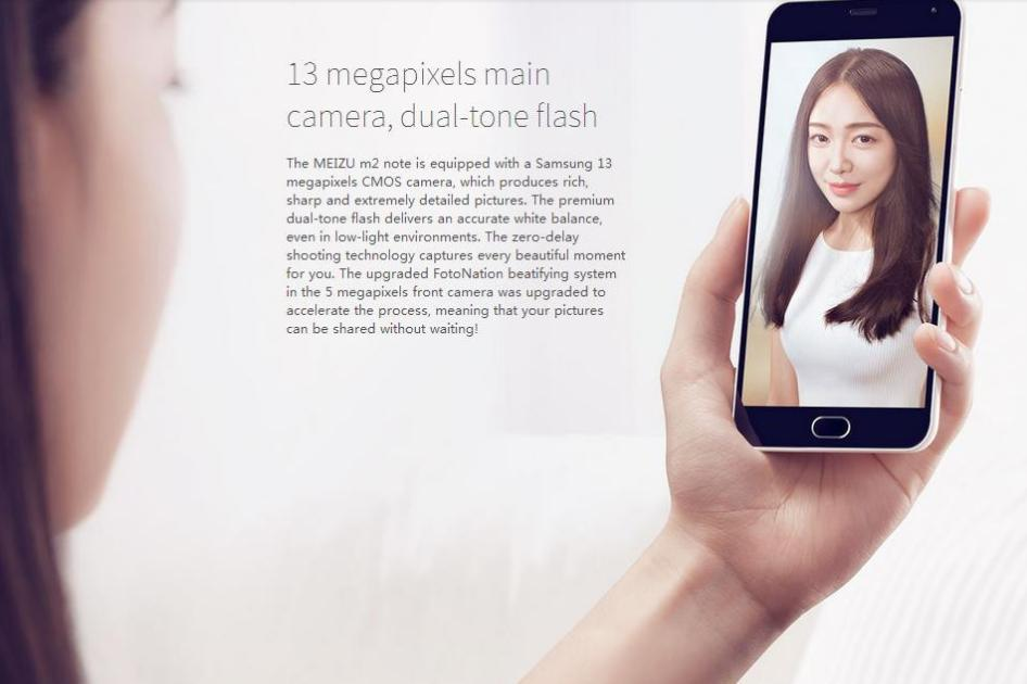 "Original Meizu M2 Note 4G LTE Cell Phones Android 5.0 MTK6753 Octa Core 5.5"" FHD 1920x1080 2GB RAM 16GB ROM 13.0MP Camera"