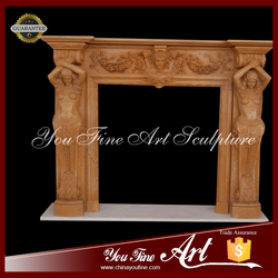 Insert natural nude lady fireplace mantel for decoration