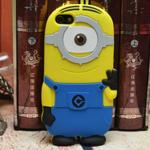 New Yellow Minion 3D Silicone Case for iPhone 6 Cartoon Minion Case