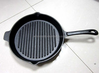 Pre-seasoned Cast Iron Grill Pan, Cast Iron Steak Pan, Cast Iron Sizzle Pan