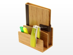 Bamboo Desktop Letter Holder mail Organizer