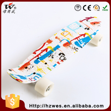 All Kinds Of Dissimilarity Outdoor Sports 70kgs Top ABS Deck Material PU Wheels OEM Fish Shape Skateboard