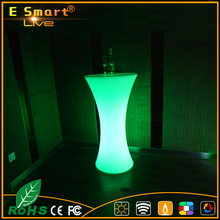 outdoor party 16 color changing illuminated Led cocktail bar table