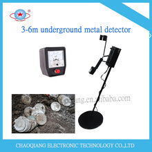 Gold metal detector in digging underground treasure and coins
