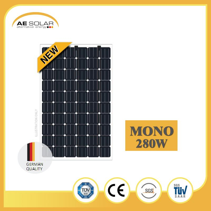 A Grade Quality Solar Panel Power System CE TUV Certificated Mono Solar System Panel AE Bm6-60 Series 280w Mono Solar Panel