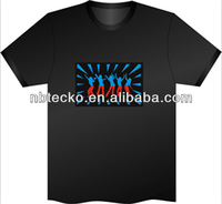 2014 New Led Flashing T-Shirt/OEM Club EL Flash T-Shirt