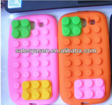 Silicone building block case for samsung galaxy S3 i9300
