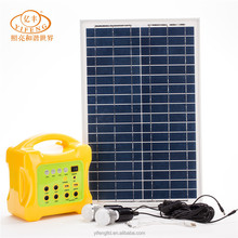 High Quality 20W Portable Solar Home System Rechargeable Solar Power Generator for Smartphone