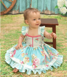 Newborn Baby Girls Lolita Dress Infant Baby Vintage Flower Dress
