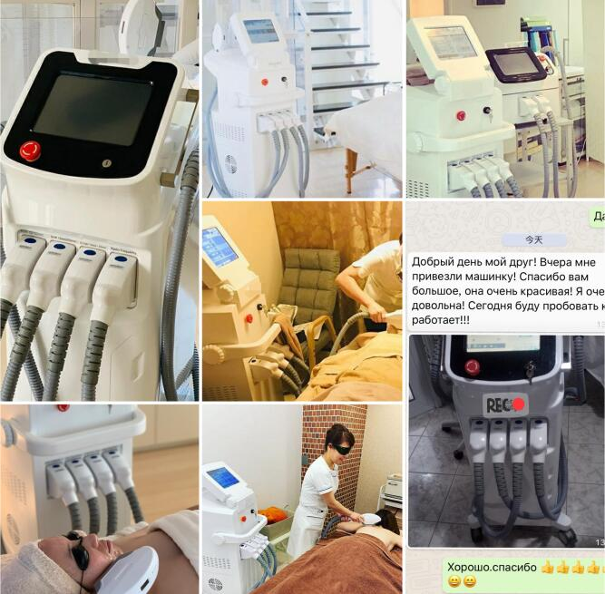 Laser Beauty Machine Diode Laser Elight IPL SHR Vertical Hair Removal Beauty Machine Professional Multifunction Equipmen