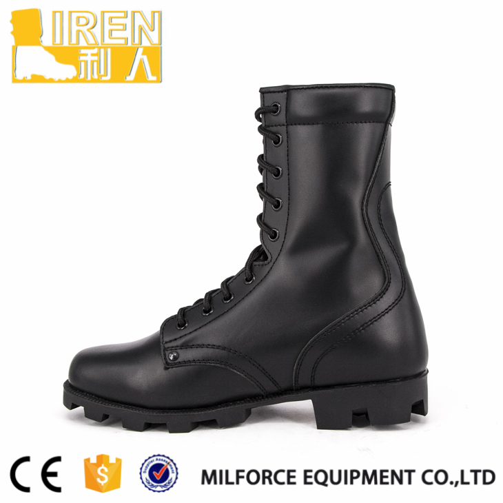 Full grain leather new style non slip combat boots