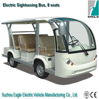 8 seats electric shuttle bus with nice design and good price from Suzhou Eagle