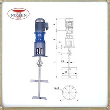 Propeller electric industrial liquid agitator and mechanical liquid mixer