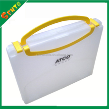 A4 plastic box file with handle