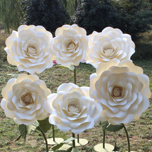 Large Backdrop flowers wedding decor standing big paper flower with stand