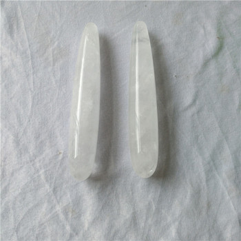Thin natural rock clear quartz crystal massage healing yoni wands sexy women dildos crystal penis for sex