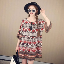 C70161A women good quality hot sale Easing national wind dress