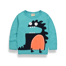 wholesale best selling shirt wear design china factory O- neck long sleeves Cartoon boy t shirt