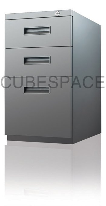 office movable 3 drawer metal file cabinet