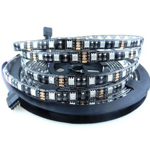 smd led with black pcb board flexible led <strong>rgb</strong> strip 5050 led strip waterproof 5m/rolled