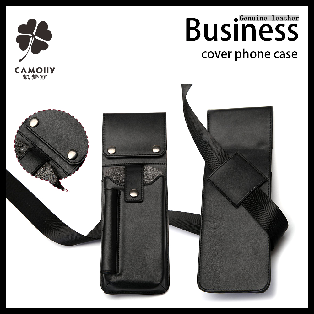 High quality top selling mobile genuine leather phone wallet case for telephone