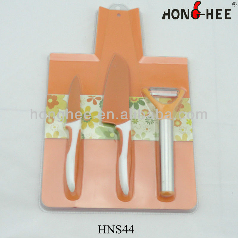 4 Pcs Non-stick Peeling Knife Set with Cutting Board