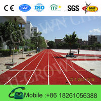 Environment Friendly IAAF certified all weather 13mm synthetic rubber running track materials