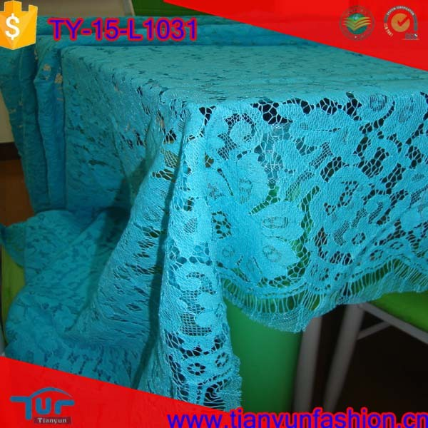 kinds of embroidery cording knittng lace fashion japanese table lace fabric
