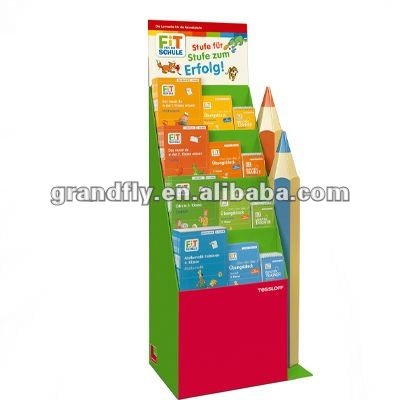 Portable Assembled ladder Cardboard Display Shelf