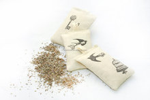 Organic French Dried Lavender/rose Buds scented cute embroidery sachet