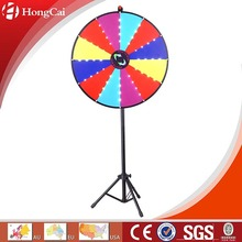 "30"" Dry Erase LED Light Floor Stand Prize Wheel, Lights Up Anti-clockwise"