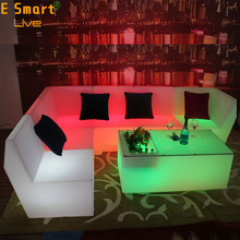 Cheap Bar Furniture/Illuminated LED sofa /led sofa Light Acrylic Lighted Glowing Table for sale