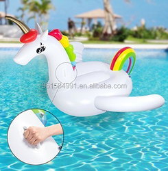 best selling cheap inflatable unicorn water swimming pool float beach toy for kids / adult