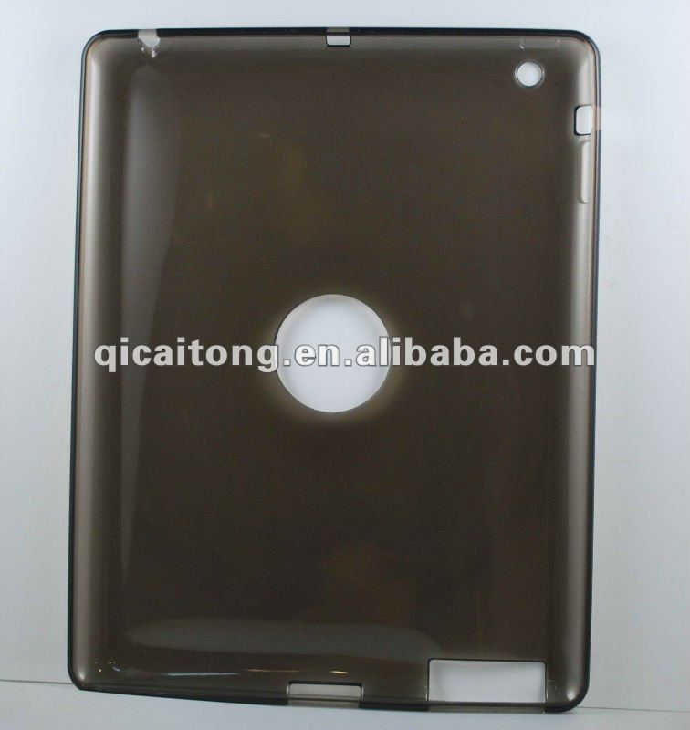 TPU case witout texture for apple new ipad(ipad3)