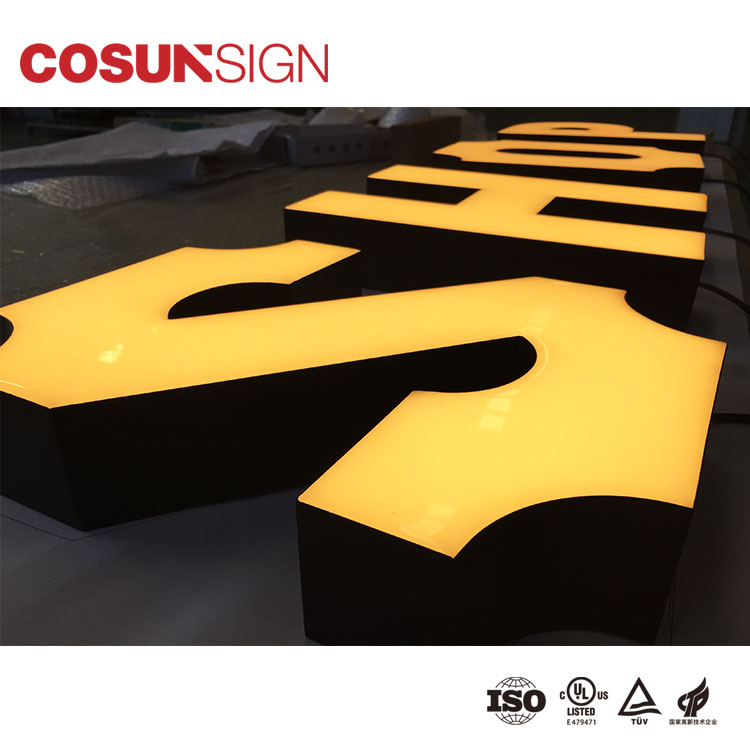 Slap-up and attractive 3D led epoxy resin indoor letters sign