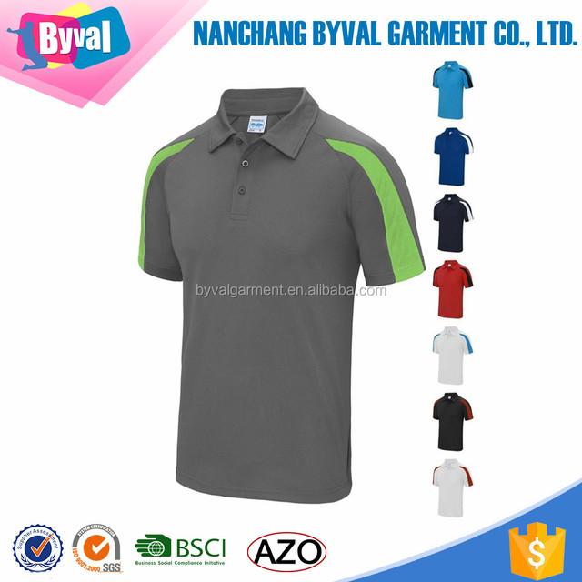 Men's 100%polyester soccer shirt golf uniform short sleeves polo shirt