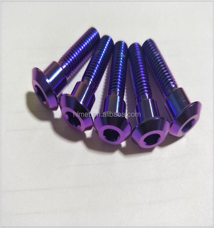 Anodized Purple Titanium Disc Brake Rotor Bolt M8x33 for Suzuki Motorcycle