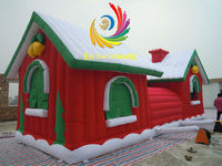 2012 hot sale commerce promotion jumping house for christmas inflatable decoration