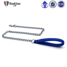 New pet products durable steel pet chain and leash leads