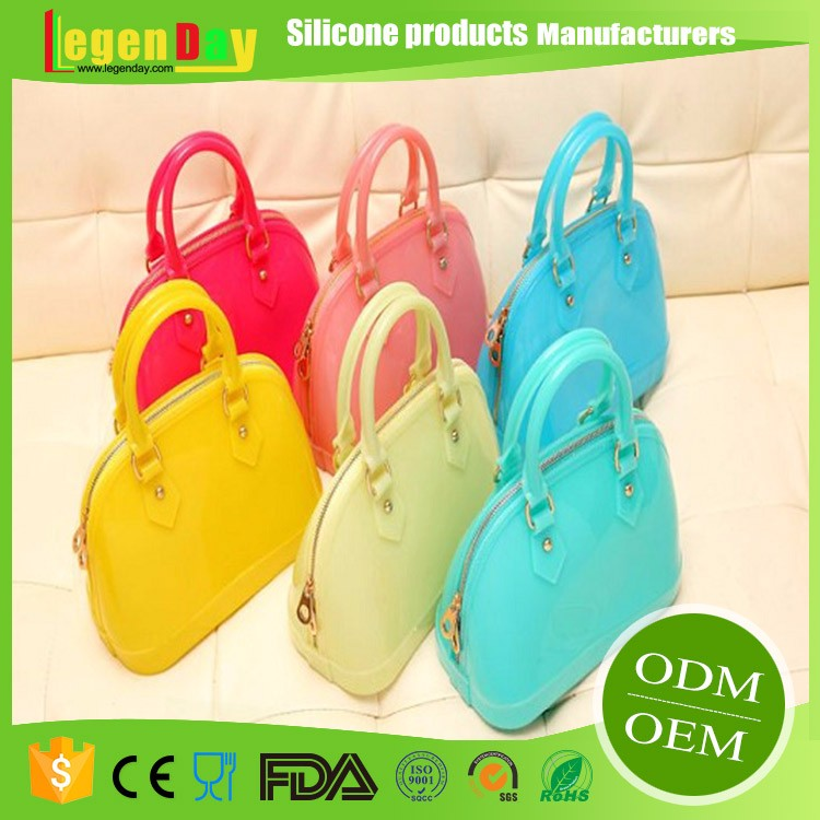 Factory Directly Selling Custom Waterproof Silicone Women Handbag for the beach