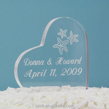 2015 newest shape engraving acrylic wedding decorations