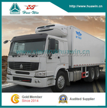 GRP Surface SINOTRUK HOWO 6*4 10 Wheelers Heavy Loading Refrigerated Truck for Meat Transport with hooks