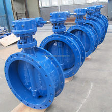 API Ductile Iron body / disc 2 Cr13 stem flange Butterfly valve with gear operated factory price FOB Reference Price