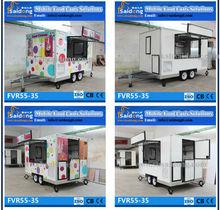 World Leader!! fiberglass Enclosed Food Concession Box Trailer